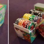 Des boites et jetons de pokers!
