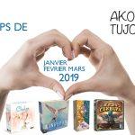Nos coups de cœur de Janvier à Mars 2019 – Akoa Tujou