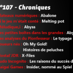 Chroniques n°107