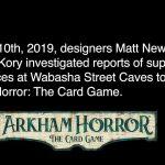 Nouveau scénario Arham Horror : le jeu de cartes