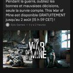 This War of mine gratuit sur PC jusqu'au 2 août