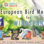 Kickstarter pour des oiseaux en bois et autres ressources pour customiser Wingspan