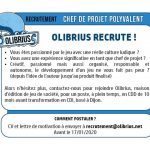 Olibrius recrute un chef de projet à Dijon