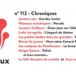 N°112 – Chroniques