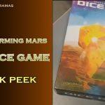 Terraforming the dice game en prototype dans la vidéo (merci à Ludema pour son partage)