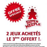Super Meeple lance une offre en boutique pour le déconfinement : 2 jeux achetés, le 3ème offert (détail dans le lien)