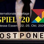 Le festival d'Essen 2020 n'aura pas lieu (reporté en 2021)