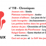 N 118 Chroniques
