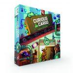 Curious Cargo en précommande (livraison octobre) en anglais, bonus de 2 plateaux joueurs double side, $26.99 le jeu et $16.50 de frais de port, jeu pour 2 joueurs / 30 minutes de partie