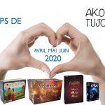 Nos coups de cœur de Avril à Juin 2020 chez Akoa Tujou