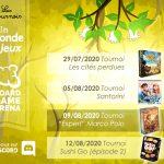 Tournois sur Board Game Arena organisés par Un Monde de Jeu : santorini / marco polo prévus pour Aout