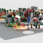 Le plateau de jeu Scythe en Lego surdimensionné ! (par Vince V.)