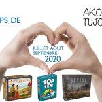 Nos coups de cœur de Juillet à Septembre 2020 sur Akoa Tujou
