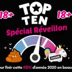 Top Ten pour 18 ans et plus spécial réveillon en ligne