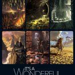 Illustrations de It's a wonderful kingdom publiée par la boite de jeu (magnifiques est un mot trop léger…)