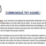 Try aGame fait un communiqué suite à une action de mise en demeure pour laquelle le Tribunal Judiciaire de Lyon s'est placé en faveur de la liberté d'expression en reconnaissant le caractère argumenté de la critique du jeu