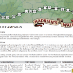 Hadrian's Wall : Campagne Solo officielle disponible en ligne (auteur: Bobby Hill)